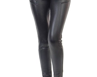 Urban Legend - womens black faux leather leggings