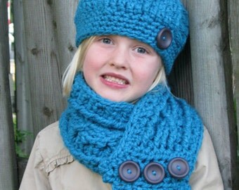 Sale! Girl's hat and scarf set, Girl's hat