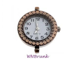 Copper Dot Watch Face- Coppertone- 1 inch face