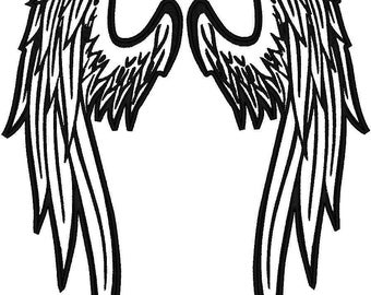 Custom Embroidered Angel wings Patch