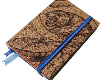 Cork refillable notebook Tiger