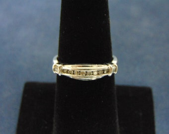 Womens Vintage Estate 10k White Gold Diamond Ring 2.7g #E2196