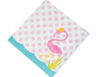 Sweet Flamingo lunch Napkins / Flamingo theme
