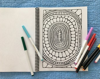 Coloring Book - Hand Drawn, Handmade, and Unique!