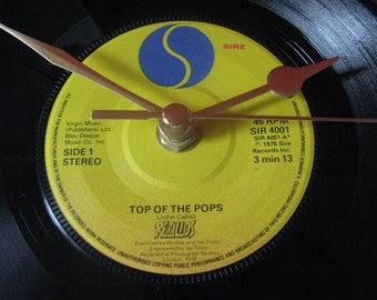 "The Rezillos top of the pops  7"" vinyl record clock"