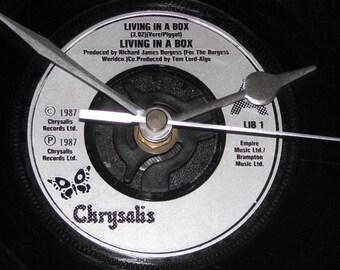 "Living in a Box living in a box  7"" vinyl record clock"
