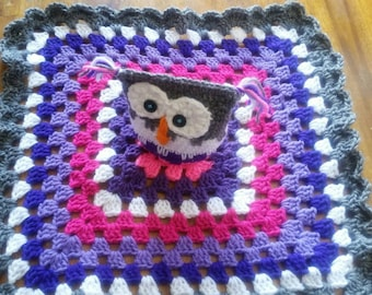 Crochet - Owl - Lovey - Blanket