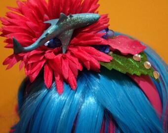 Garden Shark Fascinator Headband