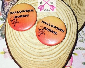 Halloween Queen badge, Halloween Queen 25mm button badge, Halloween badge, Halloween pin,