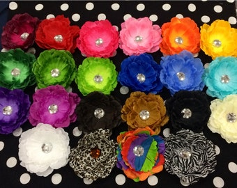 22 pc lot of peony flower clips