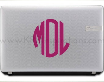 Mini Circle Monogram Vinyl Decal