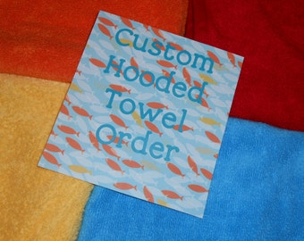 Custom Towel Order For Dorae