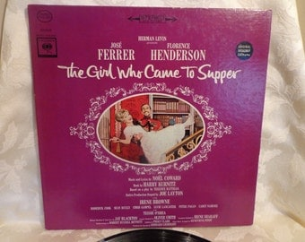 The Girl Who Came To Supper Vinyl Record Album 1963, Original Broadway Cast with Jose Ferrer and Florence Henderson