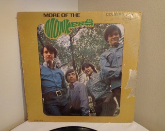 The Monkees Vinyl Record Album, More Of The Monkees Vintage Record 1967