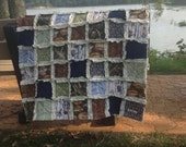 HOOK, LINE & SINKER Baby Rag Quilt - Exclusively from OCKBaby - Hunting Baby bedding, Fishing Baby Bedding, Deer Hunting - Camo baby blanket