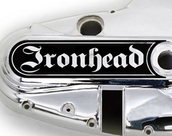 """New! Custom Die Cut Decorative Primary Clutch Cover Decal """"Ironhead Germanica"""" 1971 to 1976 Ironhead Sportster"""