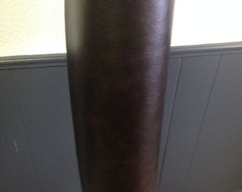 Rugged Chocolate Brown Bonded Leather Fabric for upholstery.