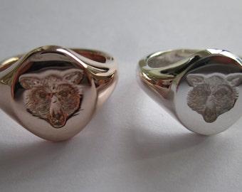 Seal engraved 'Wolf' signet ring