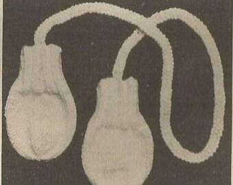 Thumbless Baby Mitten Knit PATTERN PDF