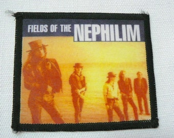 Vintage 80s Deadstock - Never Worn - Fields of the Nephilim Sew On Patch - Goth Music Lovers