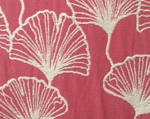 Gingko Leaves - Pink - Reversible - Upholstery Fabric by the Yard