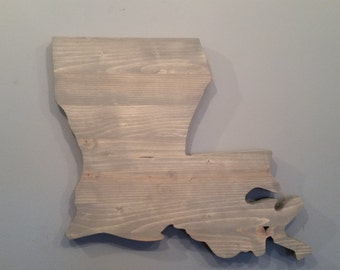 Rustic Louisiana State Sign/Plaque, Add a heart to your location