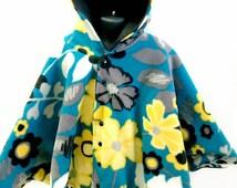 Car Seat Poncho - Car Poncho - Flower Poncho - Poncho for Girl - Girls Poncho - Infant Poncho - Baby Poncho - Toddler Poncho - Fleece Poncho