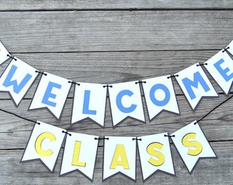 PDF: Welcome Class Banner/Bunting for Teachers - Instant Download