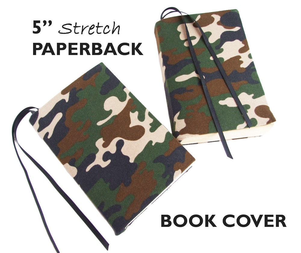 Fabric Book Cover Walmart ~ Paperback book cover camouflage stretch fabric