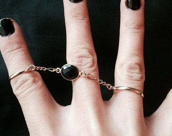 Sapphire double ring