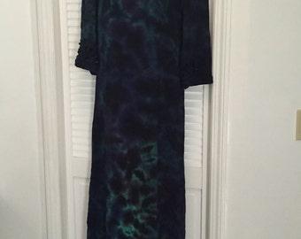 Wisperwood Women's Tie-Dye Vintage Priestess Dress (size 10-12) - Free U.S. Shipping