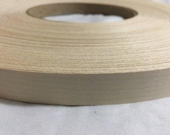 """white maple pre-glued Wood veneer edgebandin [1/2"""" to 3""""x250'"""