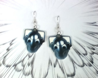 Dr Who Cyberman Cyber Man  Earrings