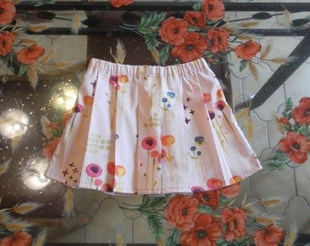 Pink skirt pleated 100% organic cotton