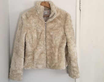 Vintage Cream faux fur jacket