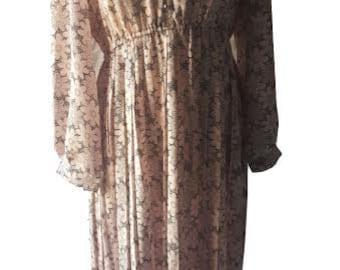 Pink and Black Vintage Dress