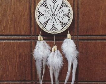 Lace Flower Burst Wood Dreamcatcher