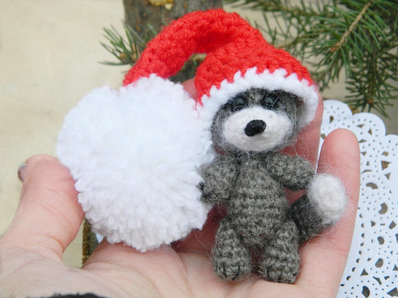 Amigurumi Mini Dolls : Amigurumi Cute little raccoon 1 piecetiny crocheted