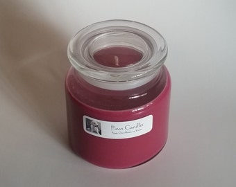16oz Apothecary Black Cherry candle with Flat lid.