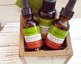 Gift Set Organic Aromatherapy Combination. Holiday Gift Set. Travel Gift Set.