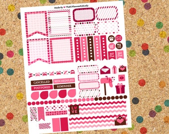 Valentines Day! HORIZONTAL Weekly Layout! Choose either glossy OR Matte!