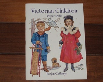 1996 Victorian Children Paper Doll Book by Evelyn Gathings (Uncut)