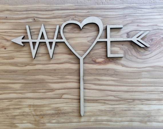 W♥E Custom Cake Topper for Wedding, Birth day, Anniversary