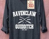 Ravenclaw Quidditch Harry Potter Shirts Black Long Sleeve Unisex Adults Size S M L XL