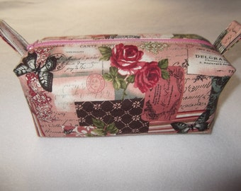 Cosmetic makeup bag cosmetic bag rose