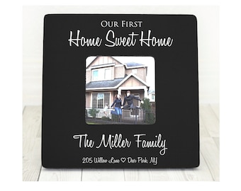 Housewarming Gift Our First Home Personalized Picture Frame Newlyweds New Home Owners Custom Gift Housewarming Gift