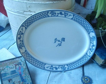 Vintage Blue and White Platter- Vintage Johnson Bros England The Exeter Platter