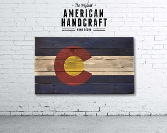 Colorado Flag - Handmade Distressed Wooden Flag