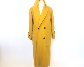 Mustard Yellow Jill Jr. Double Breasted Wool Coat / M-L