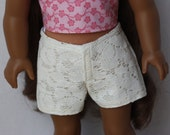 "Lace Shorts for 18"" Dolls such as American Girl"